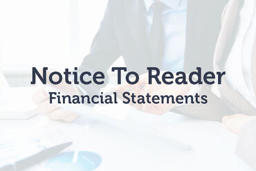 Notice to Reader Financial Statements